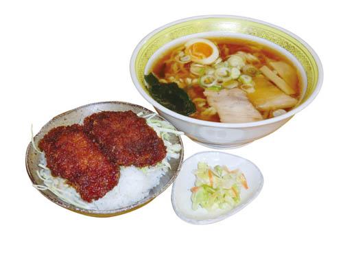 半ソースカツ丼+ラーメンセット